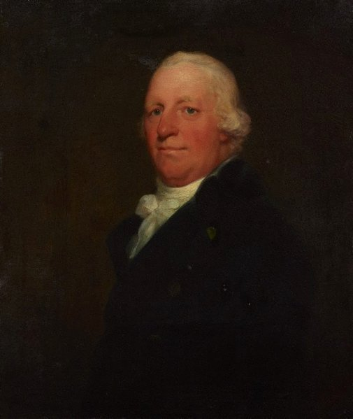 An image of Portrait of Dr B by attrib. Thomas Phillips