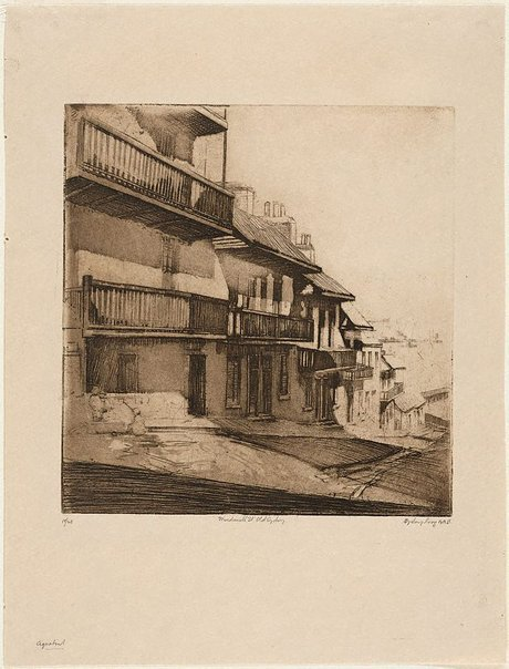 An image of Windmill St., old Sydney by Sydney Long