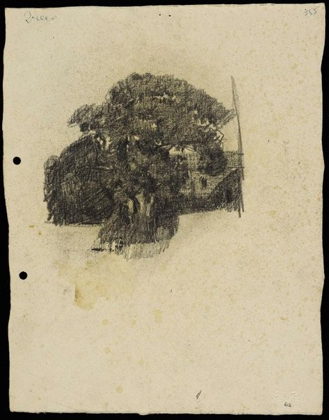 An image of recto: Tree in front of a house verso: Terrace houses [top] and House [centre] by Lloyd Rees
