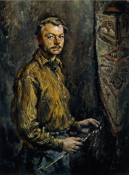 An image of Self portrait at 38 by Charles Bush