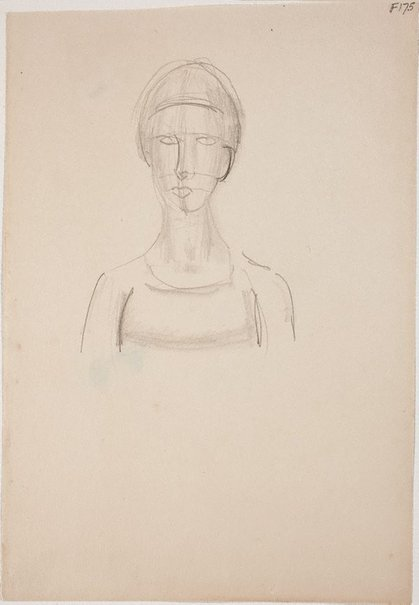 An image of (Head study) (Late Sydney Period) by William Dobell