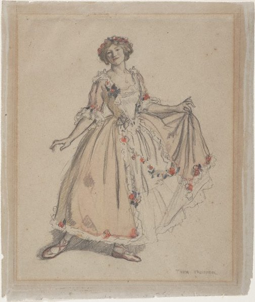 An image of The pink dress by Thea Proctor