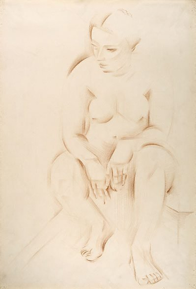 An image of Life study: seated female nude by Rah Fizelle
