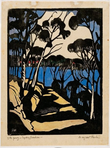 An image of Harbour foreshore by Margaret Preston