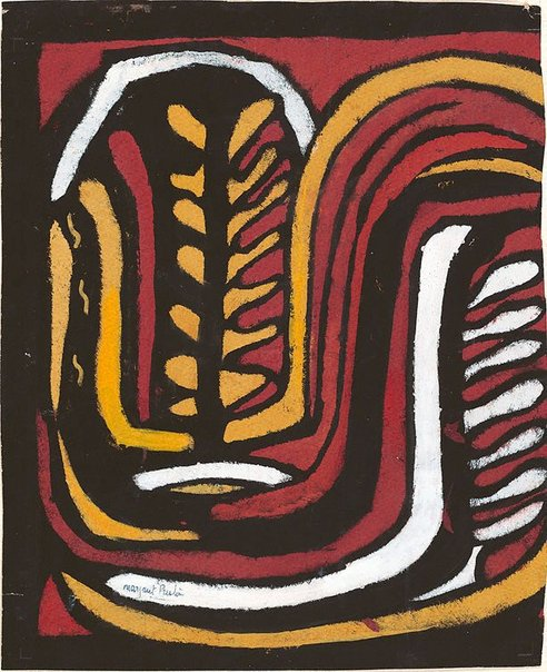 An image of Aboriginal glyph by Margaret Preston