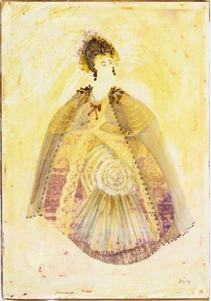 An image of The Feldmarschallin costume design for 'Der Rosenkavalier' by Desmond Digby