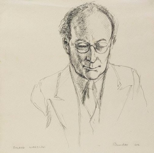 An image of Portrait of Roland Wakelin by Douglas Dundas