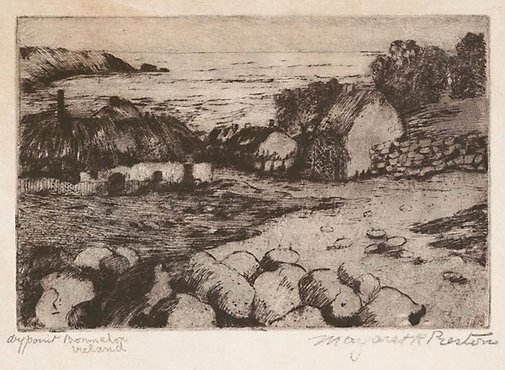 An image of Bonmahon, Ireland by Margaret Preston