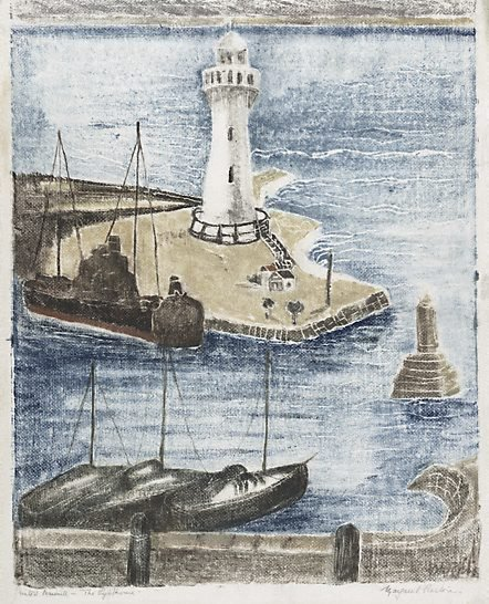 An image of The lighthouse by Margaret Preston