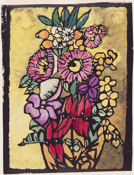 An image of Native flowers by Margaret Preston