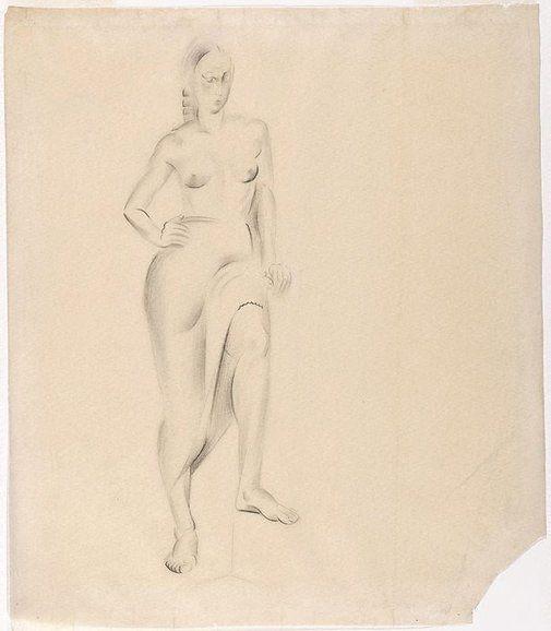 An image of Standing female figure by Rah Fizelle