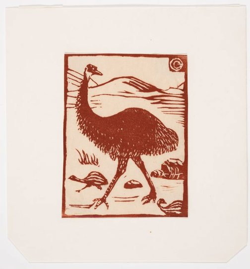 An image of Emu by Gladys Reynell