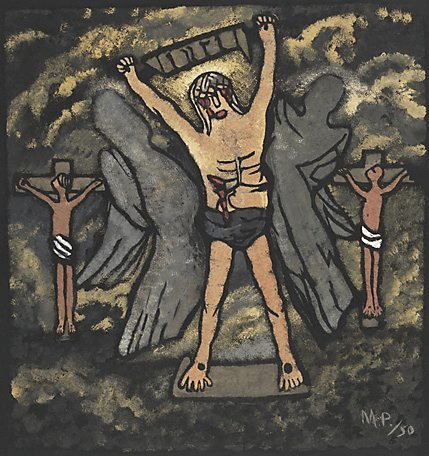 An image of Golgotha by Margaret Preston