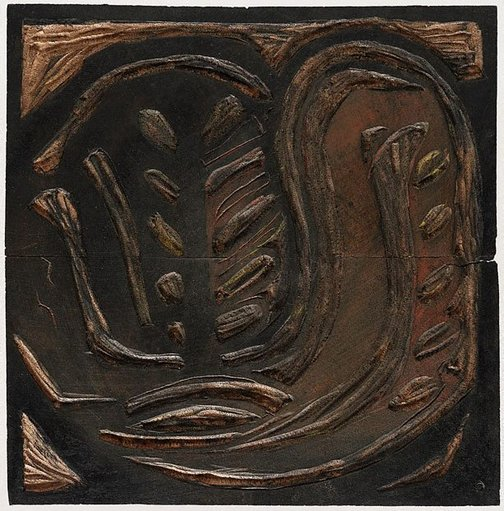 An image of Woodblock for '(Aboriginal Glyph)' by Margaret Preston