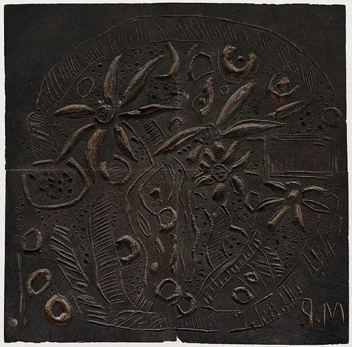 An image of Woodblock for 'Study in textures' by Margaret Preston