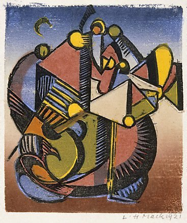 An image of Abstract composition by Ludwig Hirschfeld-Mack