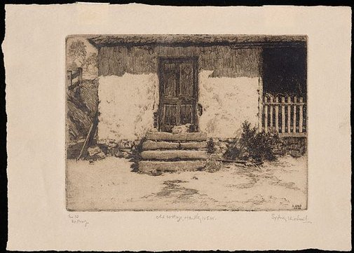 An image of Old cottage, Hartley, N.S.W. by Sydney Ure Smith