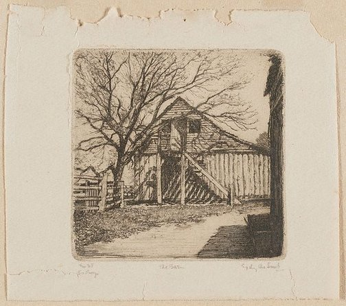An image of The barn by Sydney Ure Smith