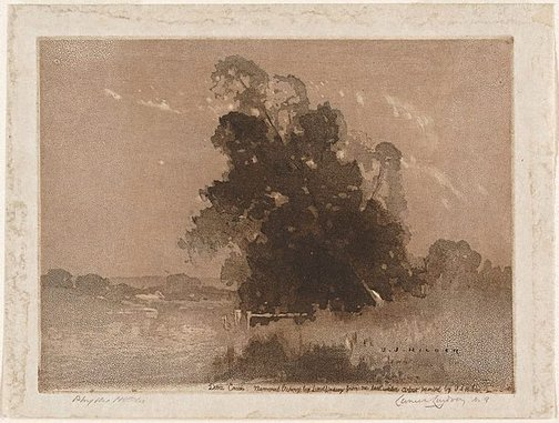 An image of Dora Creek by Lionel Lindsay
