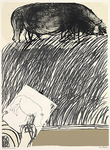 An image of Drawing about drawing: no. 4 by Brett Whiteley