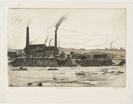 An image of The brickworks, St. Leonards by Sydney Ure Smith