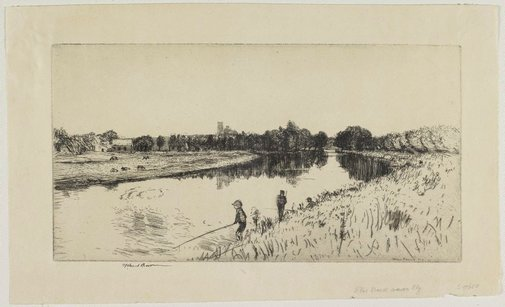 An image of The Ouse near Ely by Henry Stuart Brown