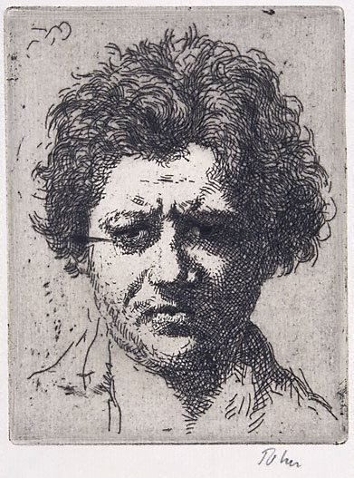 An image of Portrait of Jacob Epstein by Augustus John OM