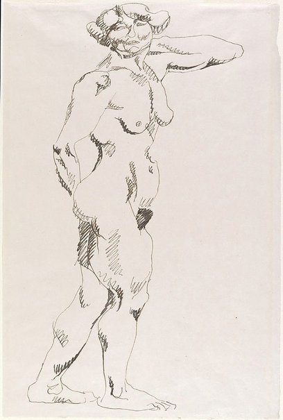 An image of Standing female nude by Henri Gaudier-Brzeska