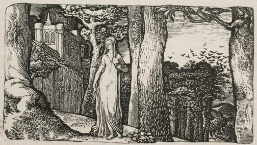 An image of The lady with the rooks by Edward Calvert