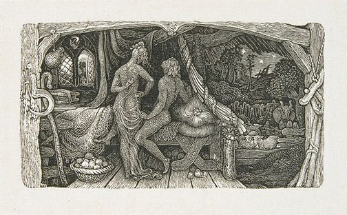 An image of The chamber idyll by Edward Calvert
