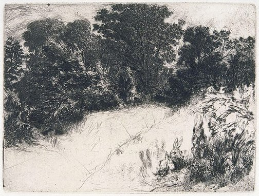 An image of Combe Bottom by Sir Francis Seymour Haden