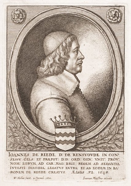 An image of John de Reede by Wenceslaus Hollar