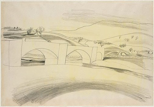 An image of Burnsall Bridge, Wharfedale by Ben Nicholson