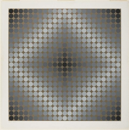 An image of Ea-va-80 by Victor Vasarely