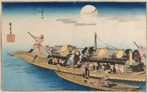 An image of Yodo River by Andô/Utagawa HIROSHIGE