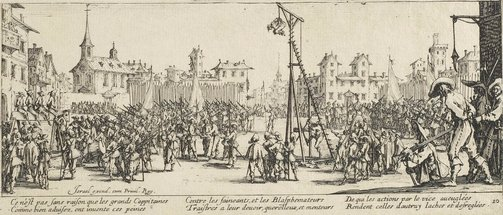 An image of The Strappado by Jacques Callot