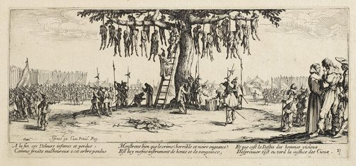 An image of The hanging by Jacques Callot