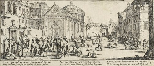 An image of The hospital by Jacques Callot