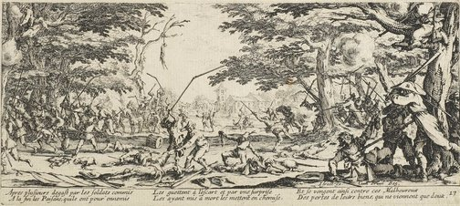 An image of The peasants avenge themselves by Jacques Callot