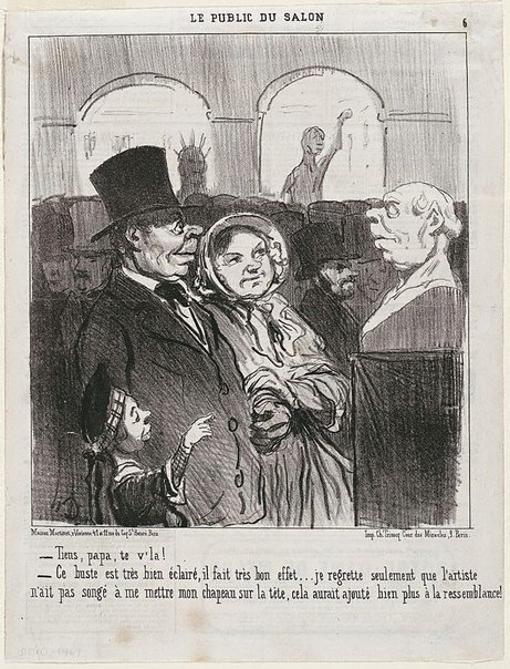 An image of Look, Papa, there's you! by Honoré Daumier