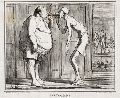 An image of After the water, fire by Honoré Daumier