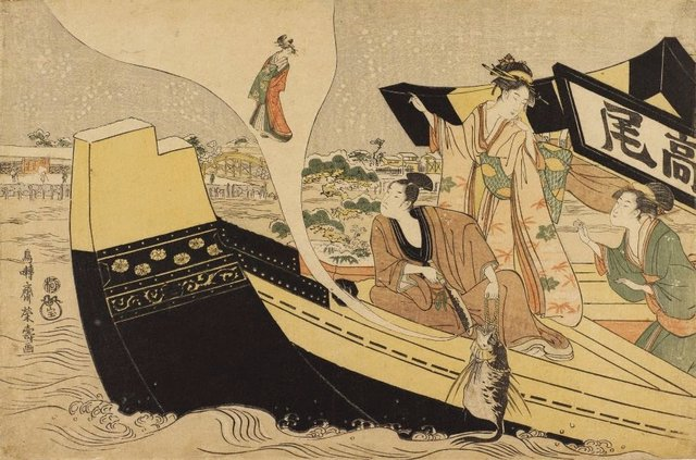 An image of Presentation (mitate) of the story of the courtesan Takao