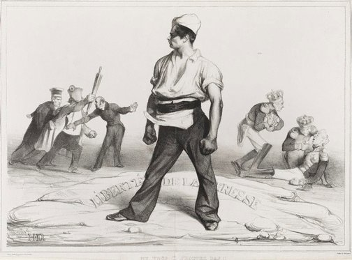 An image of Don't meddle with the press! by Honoré Daumier