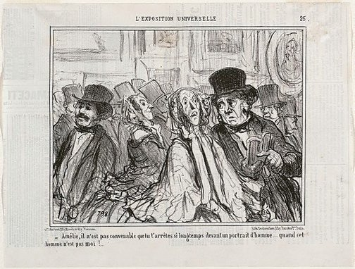 An image of Amélie, it is not seemly for you to pause so long by Honoré Daumier