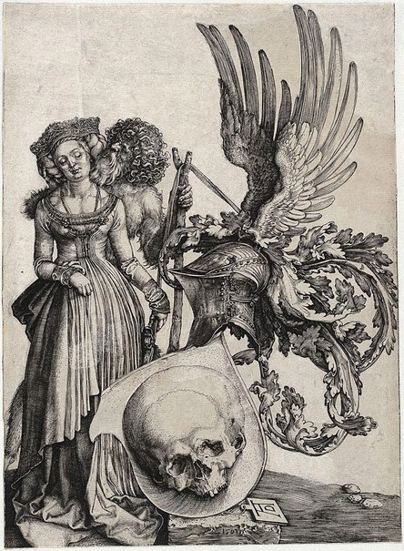 An image of Coat of arms with a skull by Albrecht Dürer