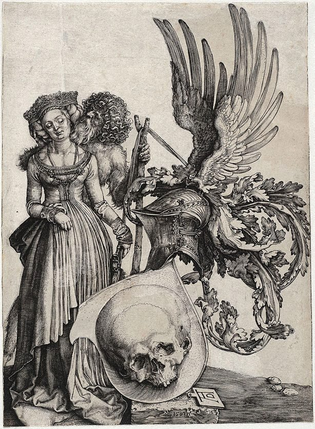 An image of Coat of arms with a skull