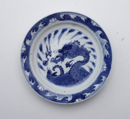An image of Tea plate by Jingdezhen ware