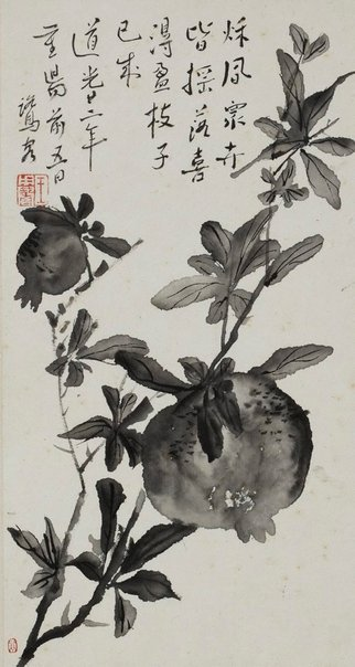 An image of Pomegranate by WANG Yongyu
