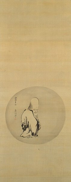 An image of God of Longevity in the style of Liang Kai by Korenobu Kanô