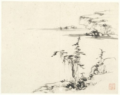 An image of (Landscape with pine and rocks) by CHENG Sui